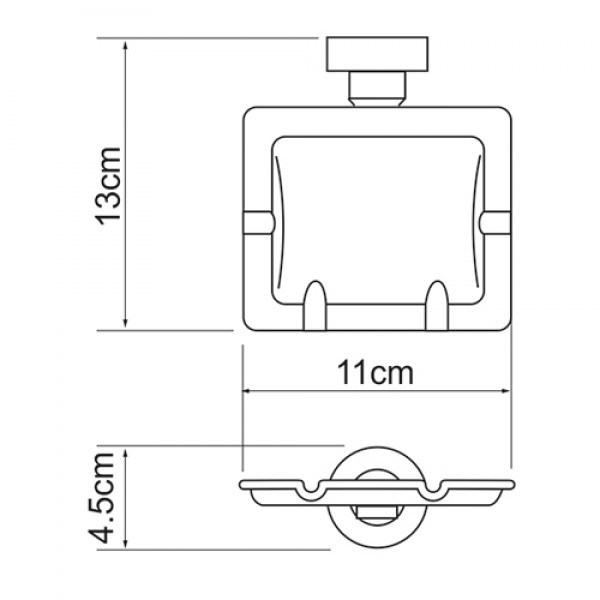 Ёмкость для мусора подвесная WasserKRAFT K-1081